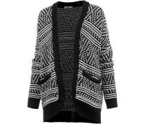 Strickjacke Damen schwarz / weiß