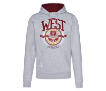 Sweater 'c&s WL West University Hoody' grau / rot