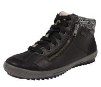 Hohe Sneaker mit Strick-Einsatz schwarz