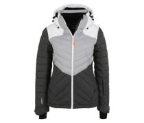 Sportfunktionsjacke 'Kendra' grau / schwarz / weiß