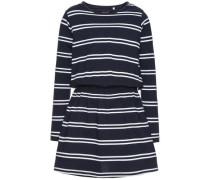 Kleid mit langen Ärmeln nitvelvet enzian / weiß