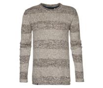 Pullover mit Streifen 'Ederman' grau