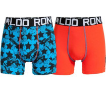 Boxer Boys Trunk 2er Pack rot
