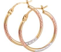 Paar Creolen gold / rosegold / silber