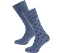 Marla 2 Paar Socken blau