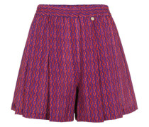 Falten-Shorts mit Print rot