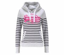 Kapuzensweatshirt »Vintage Logo Stripe Hood« graumeliert / pink / schwarz