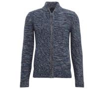 knit Strickjacke in Melange-Optik blau