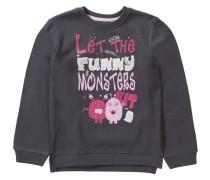 Sweatshirt dunkelgrau / pink / hellpink / wollweiß