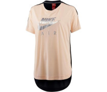 'W NSW TOP SS Air' T-Shirt Damen rosa / schwarz / silber