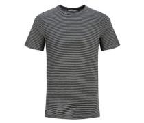 Gestreiftes T-Shirt dunkelblau / grau