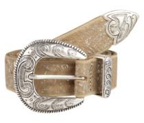 Gürtel mit Ornament-Schnalle sand