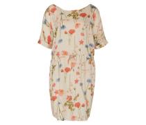 Kleid mit Blumenprint 'Courage' hellbeige / rot