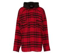 Oversize-Hemd mit Kapuze rot
