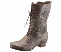 Shoes Schnürstiefel dunkelbraun / bronze / dunkelgrau