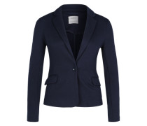 Jersey-Blazer dunkelblau
