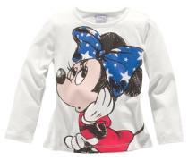 Langarmshirt mit Minnie Mouse Motiv weiß
