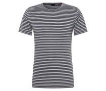 Shirt 'daniel' dunkelblau / weiß