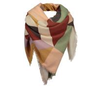 CODELLO Schal mit feinen Fransen beige / mischfarben