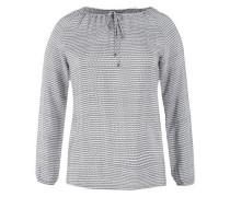 Bluse mit Minimalmuster dunkelgrau / weiß