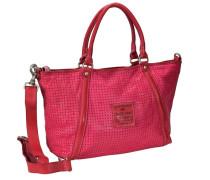 Agave Shopper Tasche Leder 36 cm pink