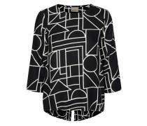 Langarmshirt schwarz / weiß