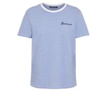 Jerseyshirt 'kita' hellblau / weiß