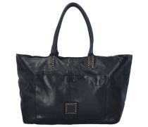 Grande Shopper Tasche Leder 37 cm schwarz