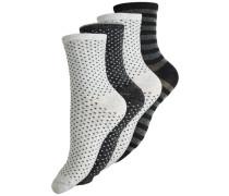Glitzer Socken 4er-Pack schwarz / weiß