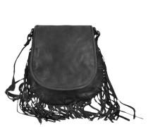 Glicine Umhängetasche Leder 22 cm schwarz