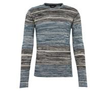 Pullover 'Knit - Kamal' creme / blau / dunkelgrau