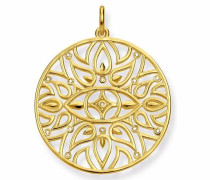 Kettenanhänger 'Mandala-Ornamentik D_Pe0002-924-39' gold