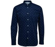 Langarmhemd nachtblau