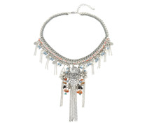 Halskette mit Ethnoanhänger 'PCMoris' silber