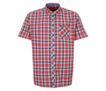 Regular: Kariertes Stretch-Hemd dunkelblau / lachs / pink / weiß