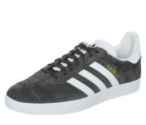 Sneaker 'gazelle' dunkelgrau / weiß