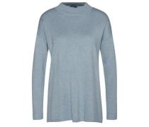 knit Pullover mit Turtle-Neck hellblau