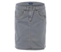 Minirock mit Taschen grau