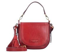 Pearldistrict Handtasche Leder 20 cm rot