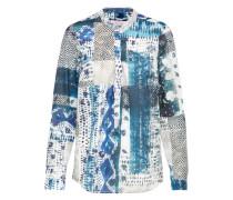 Bluse blau / mischfarben