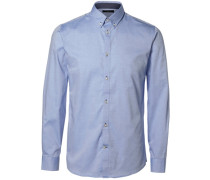 Slim-Fit-Hemd blau