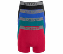 s.Oliver RED Label Bodywear Boxer (4 Stück) royalblau / grün / rot / schwarz