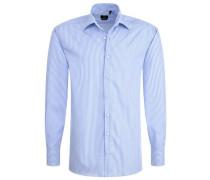 Langarm Hemd Modern FIT blau / weiß