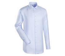 City-Hemd 'Custom Fit' blau / hellblau