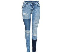Ultimate reg patch Skinny Fit Jeans blue denim