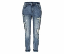 Destroyed-Jeans »Ziggy« blau