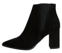 Schwarze Wildleder-Stiefel schwarz