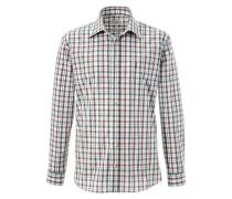 Trachtenhemd im Karodesign grün / weiß