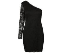 Off-Shoulder-Spitzen-Kleid mit langen Ärmeln schwarz