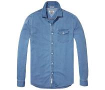 Hilfiger Denim Hemd »Thdm REG Solid Indigo Shirt L/S 29« blue denim